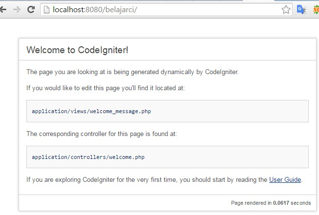 tutorial codeigniter